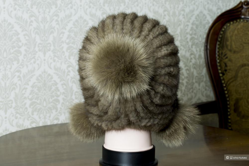 Шапка из вязаной норки.
