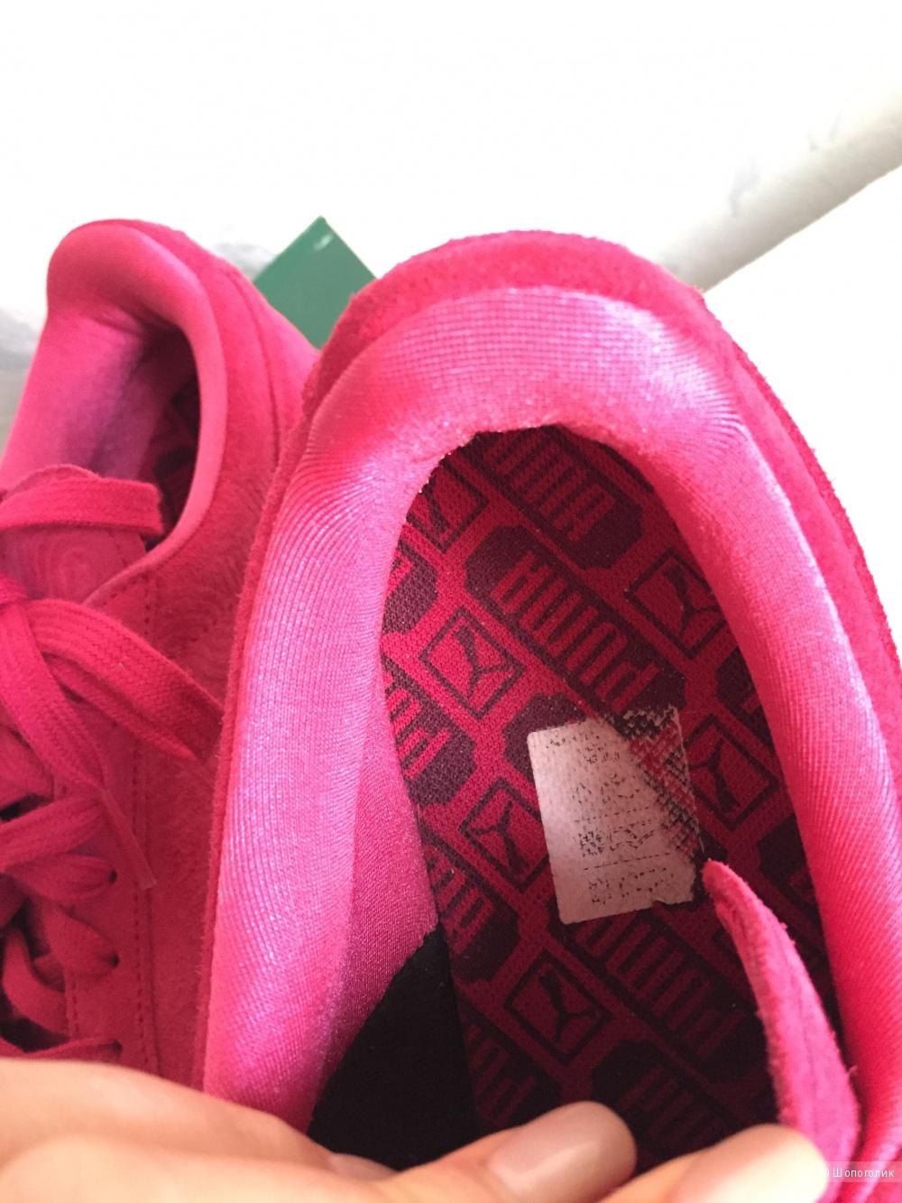 Кроссовки Puma, замшевые, 38eu, цвет-фуксия