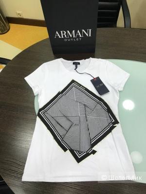 Женская футболка Armani Jeans, размеры 42 (S) и 44 (M)