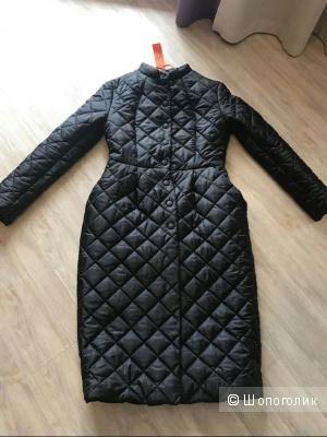 Длинное экстравагантное стеганное пальто черного цвета IMPERIAL, Италия, размер S