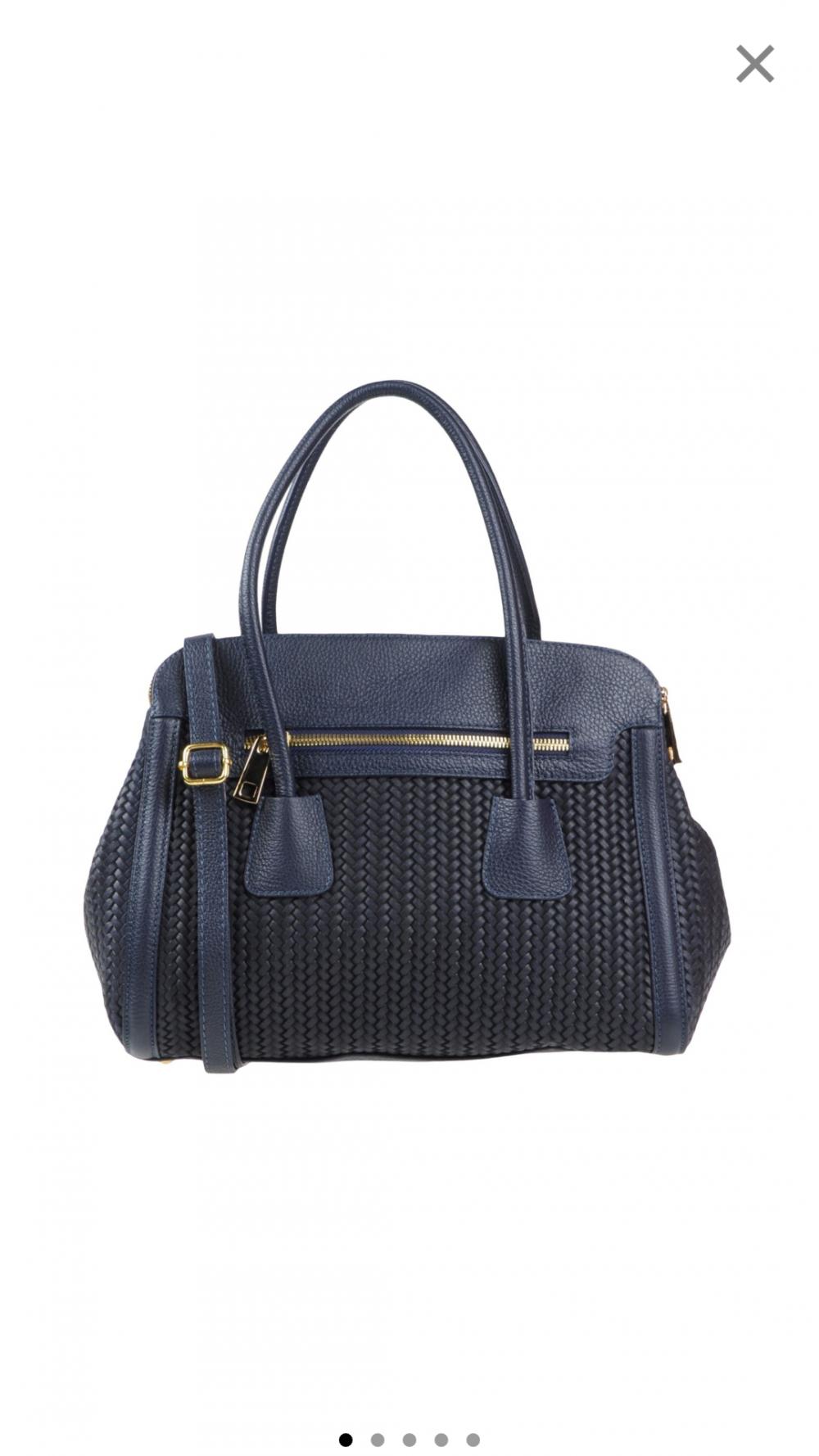 Сумка кожаная Tuscany leather, новая, темно-синяя