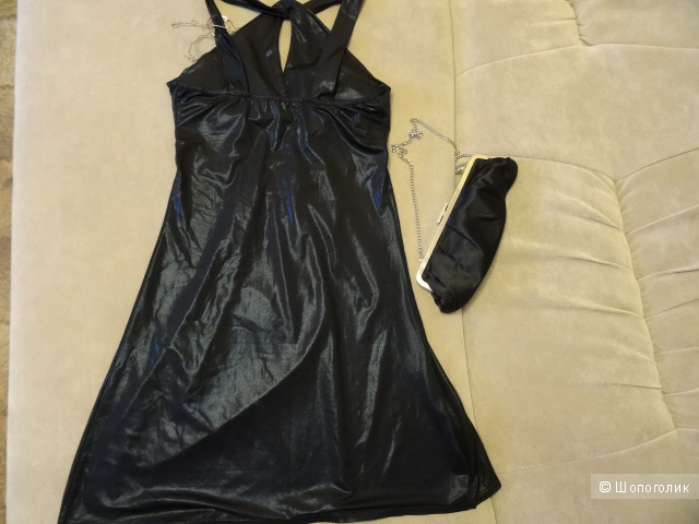 Чёрное коктейльное платье, размер 42-44, б/у