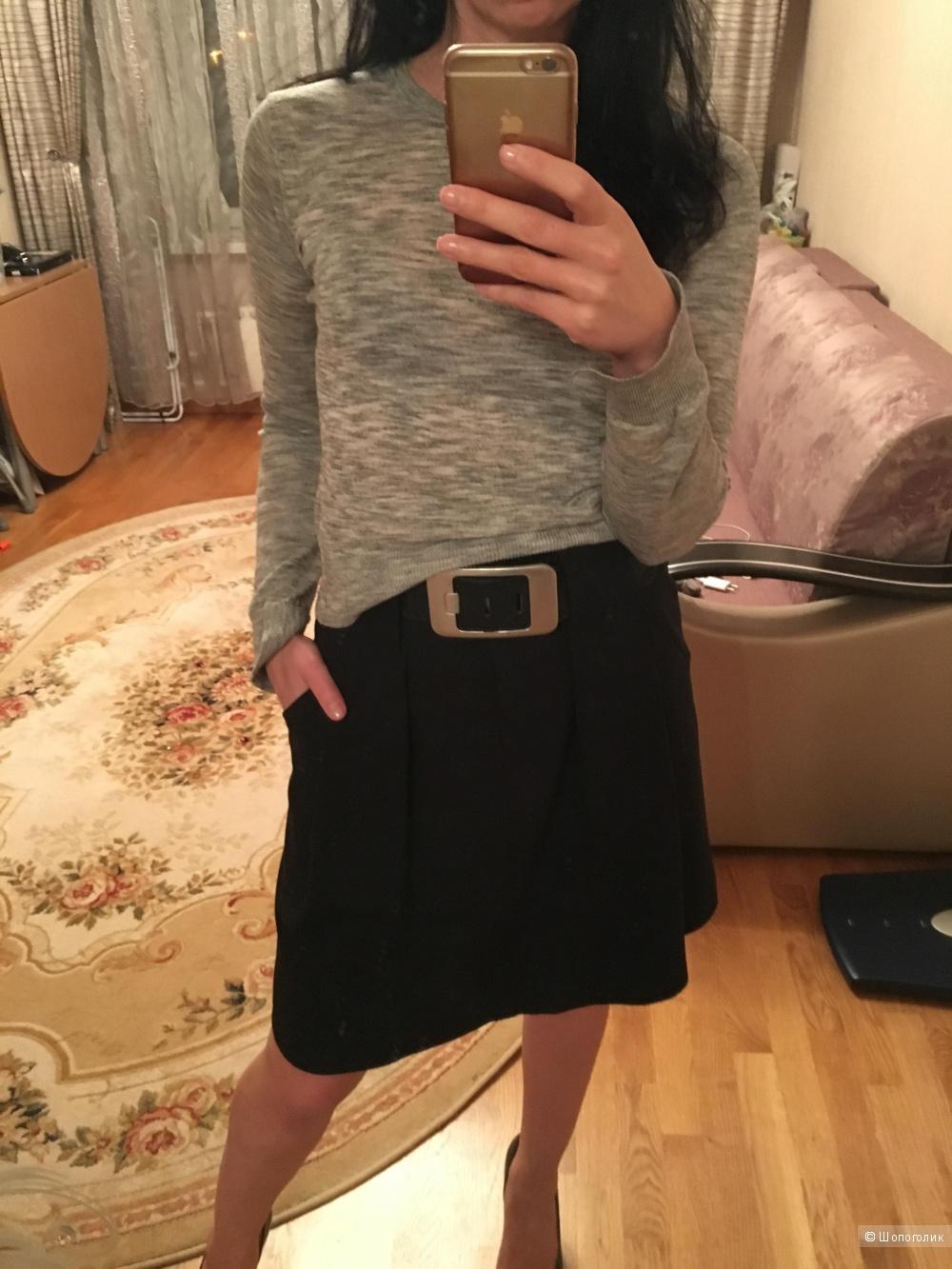 Офисный сет: юбка и свитер xs