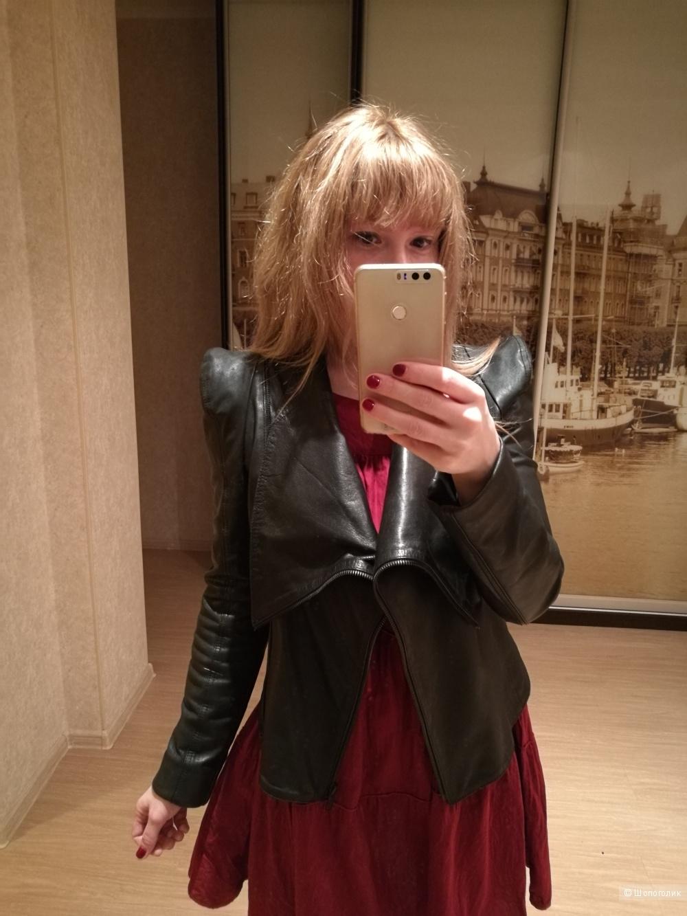 Skingraft. Кожаная куртка-косуха. 42/42+/S