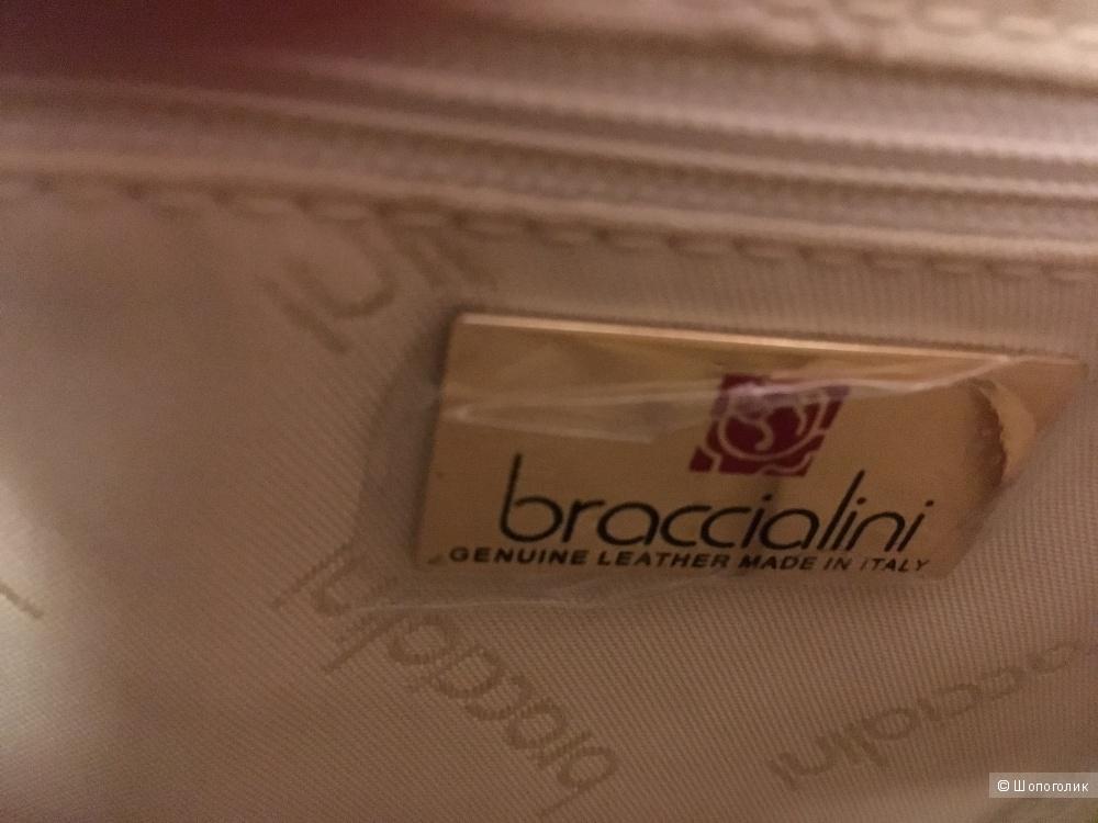 Сумка из натуральной кожи BRACCIALINI, новая с бирками