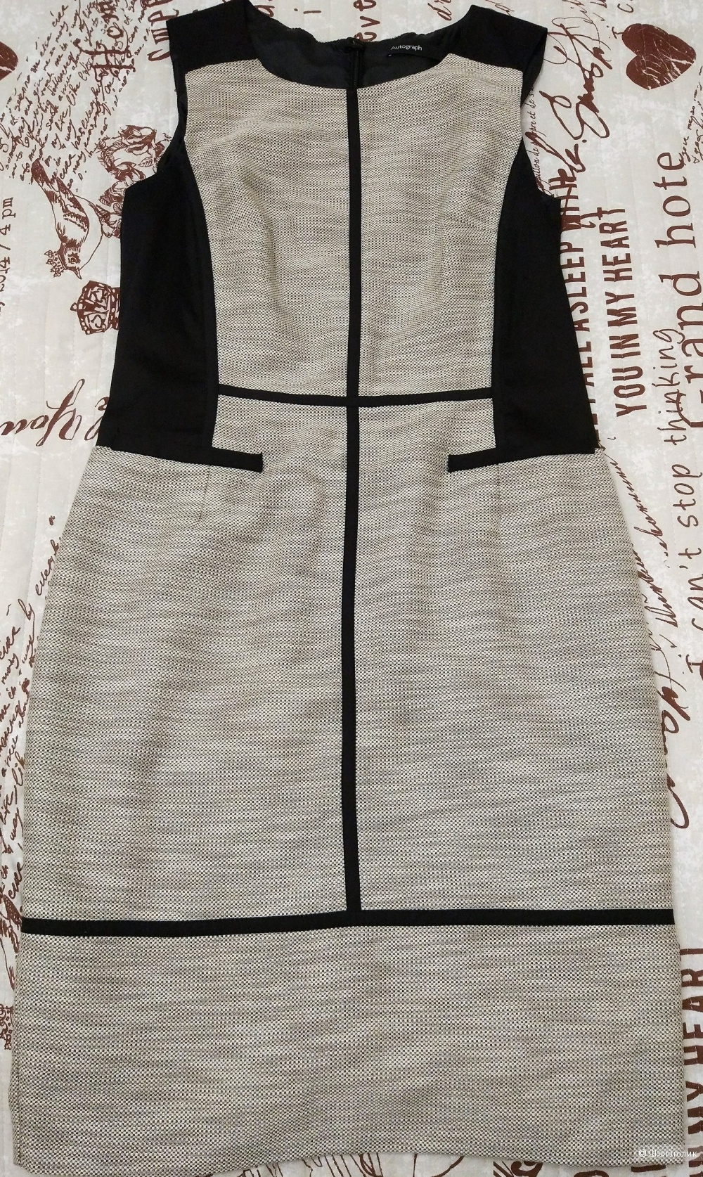 Серо-белое платье MARKS & SPENCER 42-44 размер/12 UK/M
