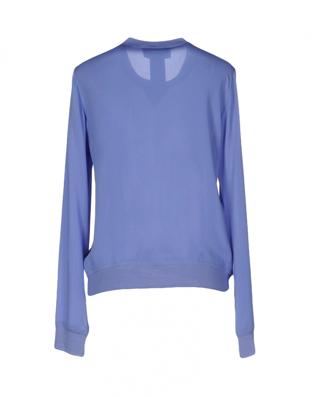 Шелковый блузон DSQUARED2, 48 (Российский размер) дизайнер:46 (IT) Сиреневый