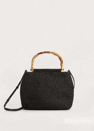 Плетеная сумка с ручкой из бамбука Mango