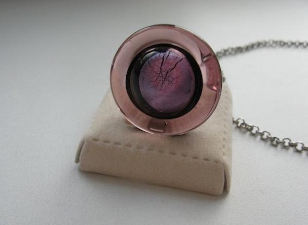 Венецианское кольцо из муранского стекла размера 17-17,5