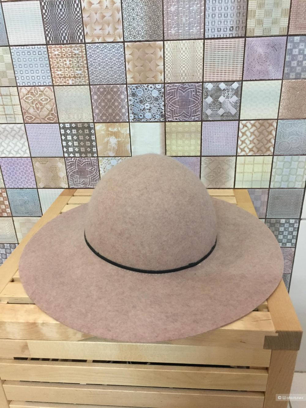 Широкополая фетровая шляпа с узким ремешком ASOS,57см