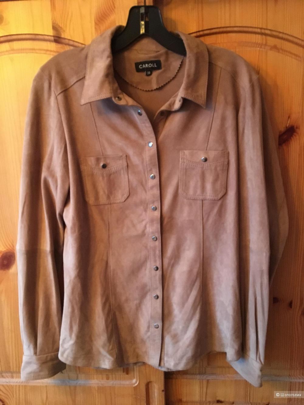 Замшевая рубашка CAROLL размер FR38 на росс.44-46