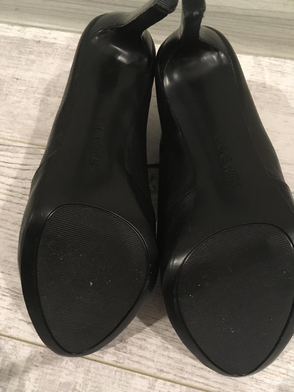 Кожаные ботильоны (туфли) Nine West, 8 US, стелька 25 см