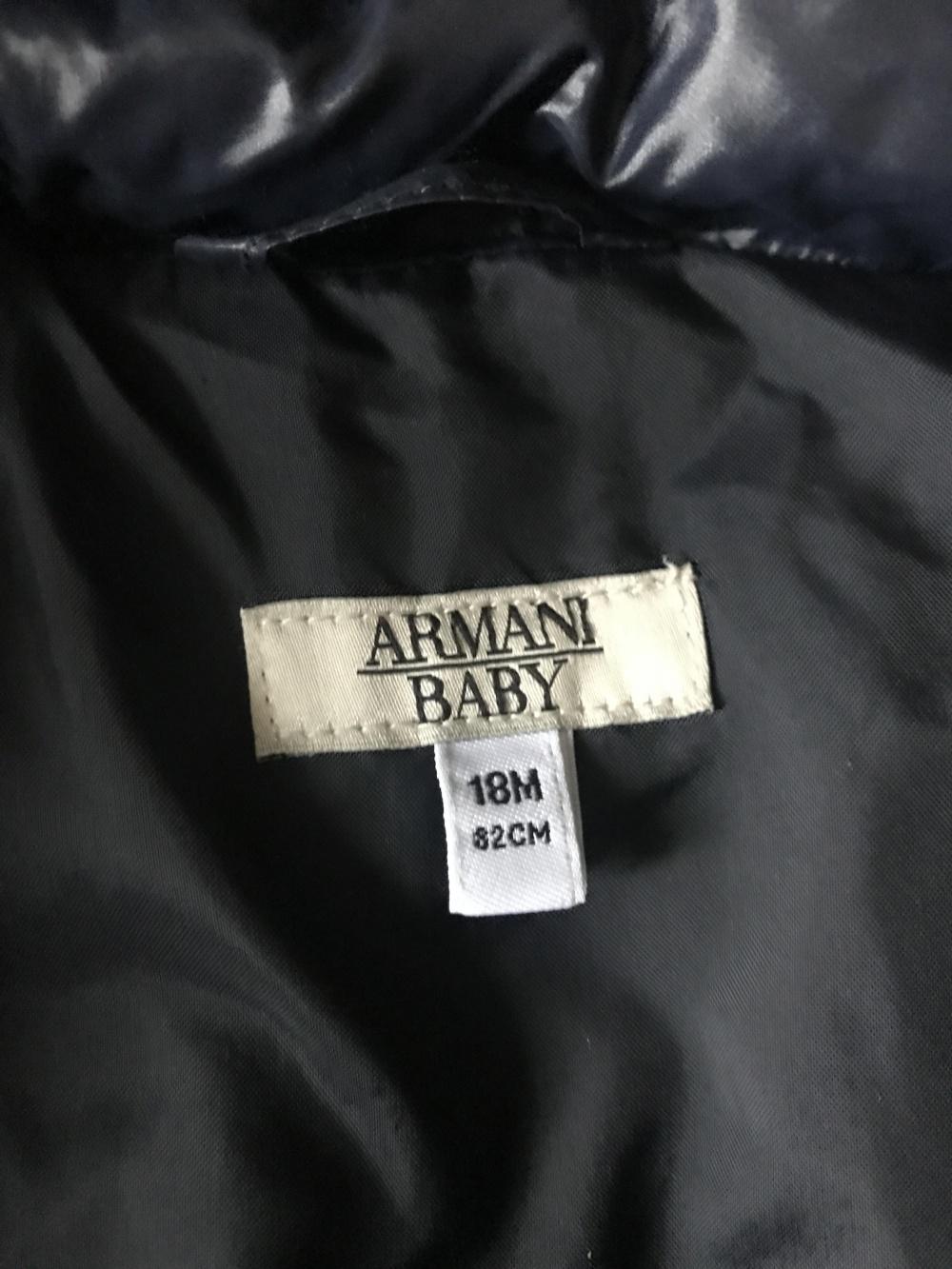 Пуховик Armani на рост 82 см
