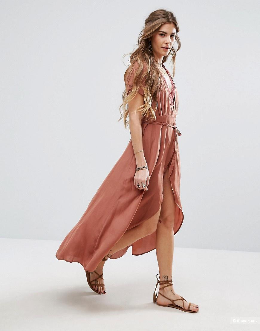 Платье с запахом honey punch L