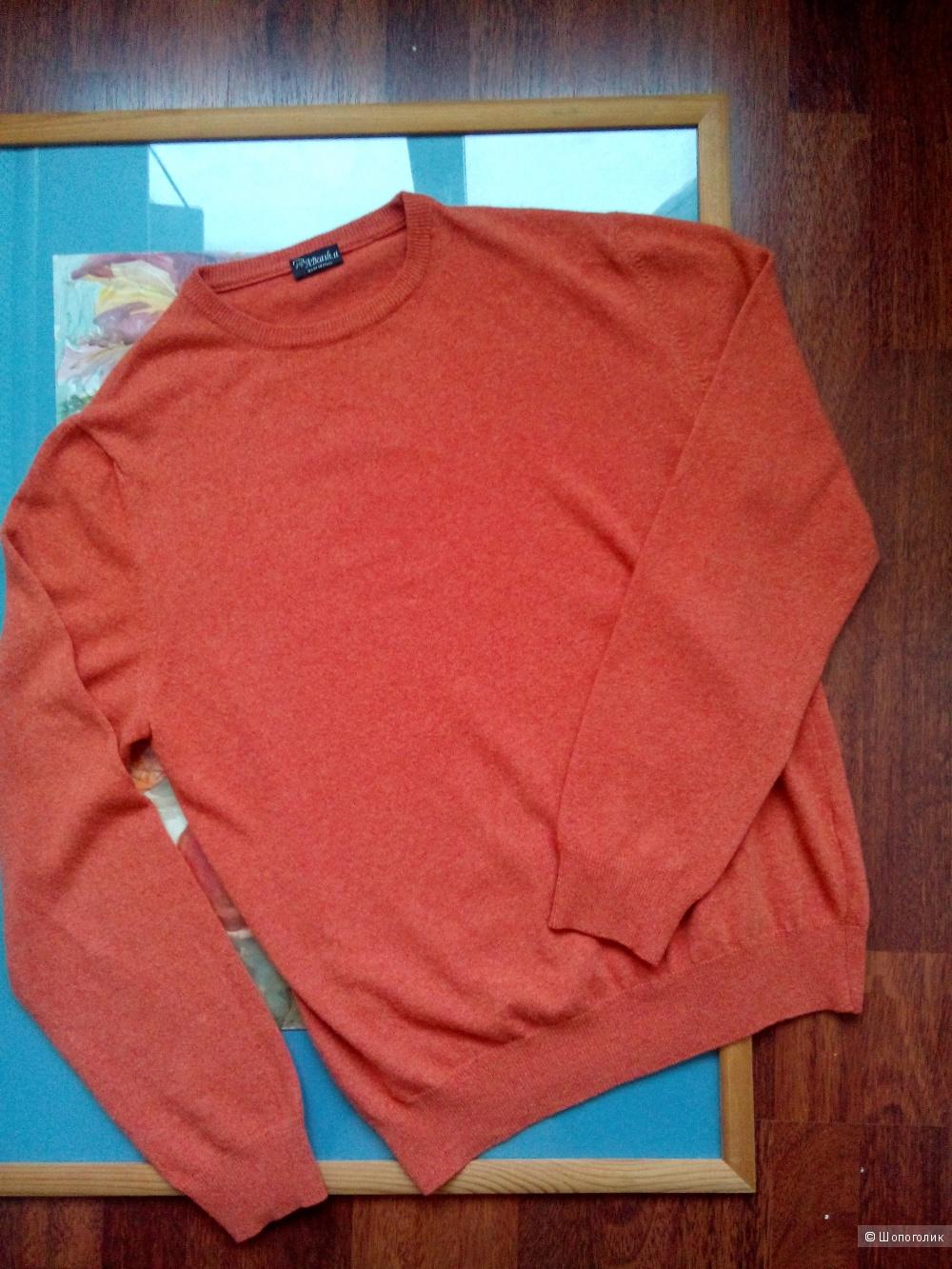 Пуловер ABсash Италия шерсть-кашемир XL.