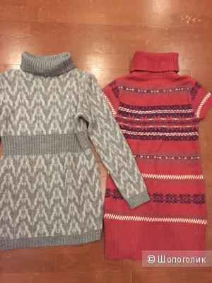 Сет из двух шерстяных платьев туник 42-44 российский размер