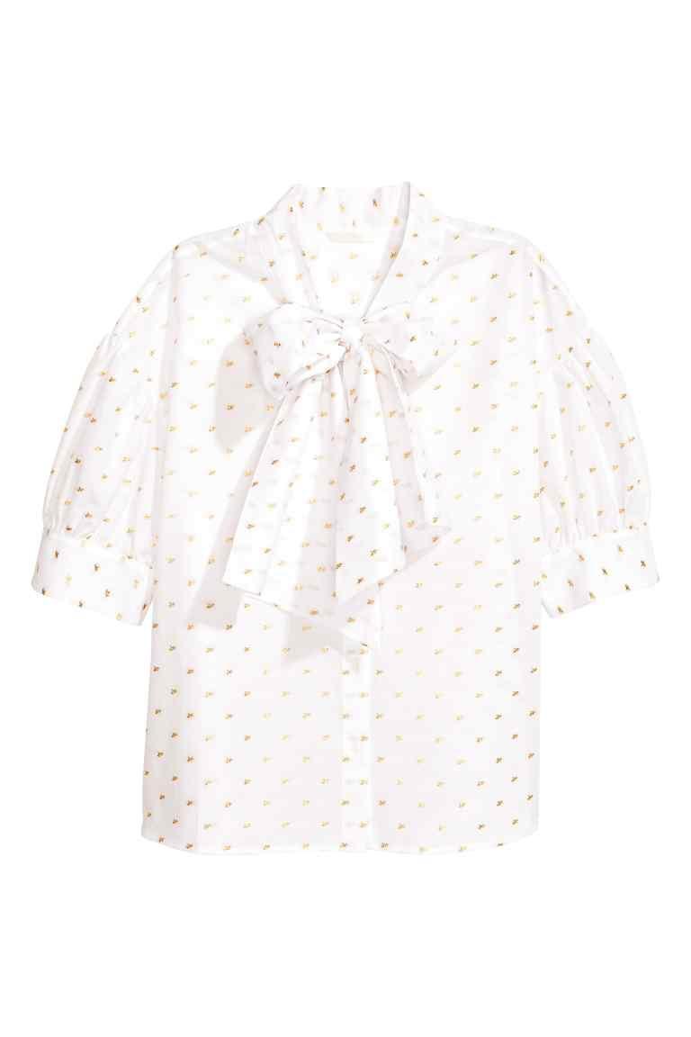 Блузка с бантом HM евро 34