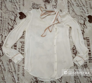 Шелковая блузка Zara размера XS-S