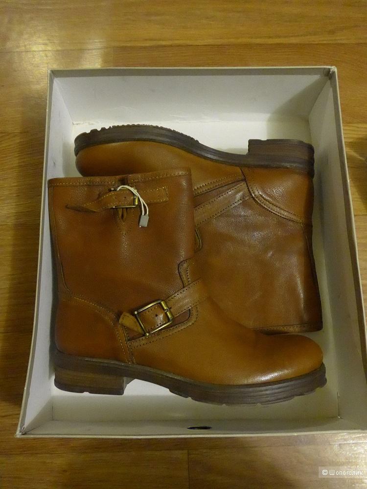 Новые кожаные сапоги CAFÈNOIR, 38 размер