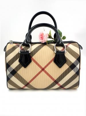 Burberry Nova Check Bowling Boston Bag (размер 32х35х18)