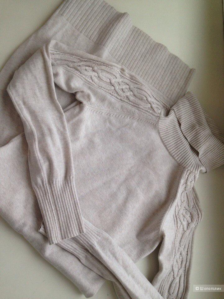 Victoria's Secret Knit Turtleneck Sweater Dress XS (40-42) Blonde Heather