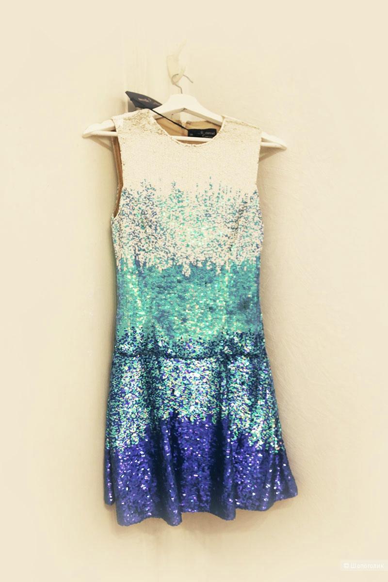 Новое платье с пайетками Needle & Thread UK10