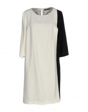 Платье SEVENTY by SERGIO TEGON, 48 (Российский размер) дизайнер:46 (IT). Черный - слоновая кость