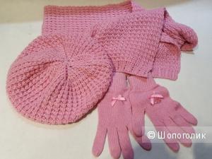 Blumarine набор шапка,шарф,перчатки. р.14