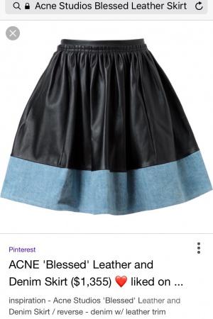ACNE STUDIOS новая юбка с бирками, КОЖА, р.42(RU)-36(DE)