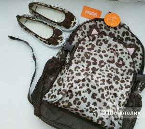 Комплект Gymboree рюкзак+тапочки 12 размер