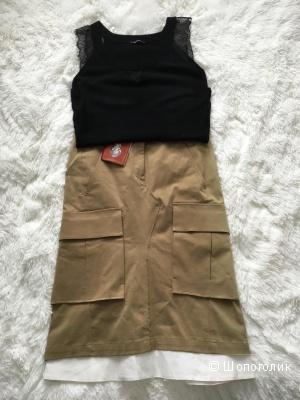 Комплект юбка Dondup , размер 42-44+топ Morgan, размер 44