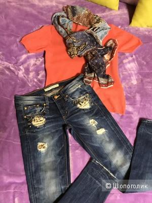 Комплект из трёх вещей , джинсы RODIS DENIM, кофта Glenfiald и шарфик размер 42-44