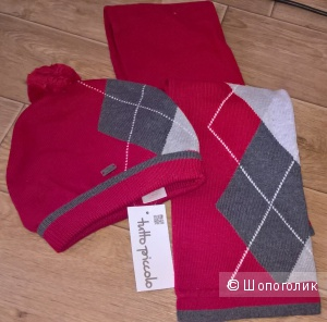 Детский комплект шапка и шарф tutto piccolo 56р