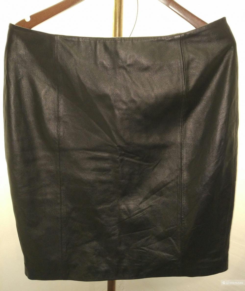 Кожаная юбка A.M.London р 50