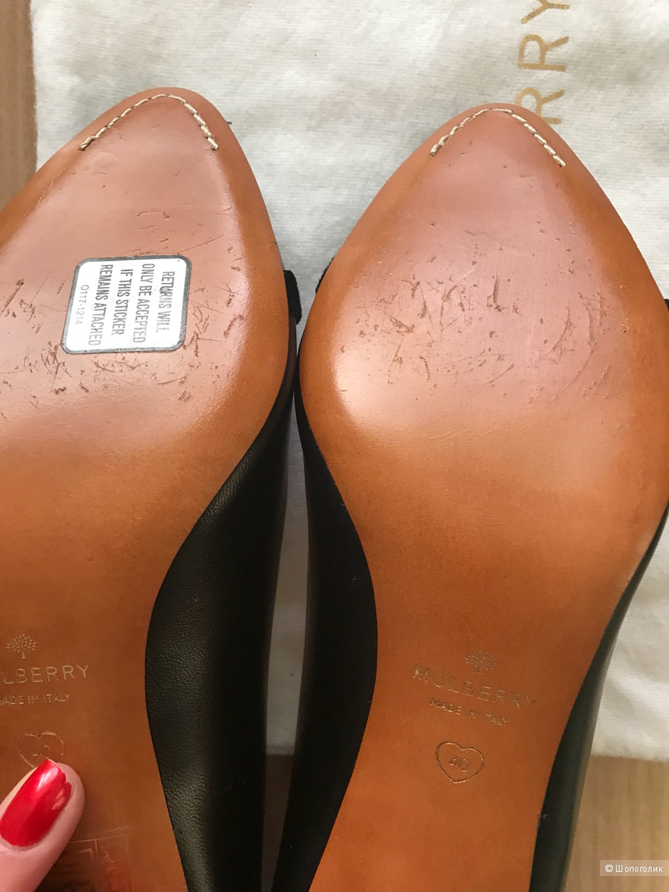 b3035c76a Туфли черные MULBERRY, 40 IT размер, на узкую ногу 39,5, в магазине ...