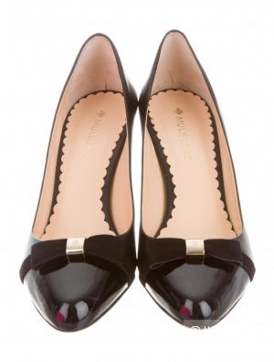 Туфли черные MULBERRY, 40 IT размер, на узкую ногу 39,5