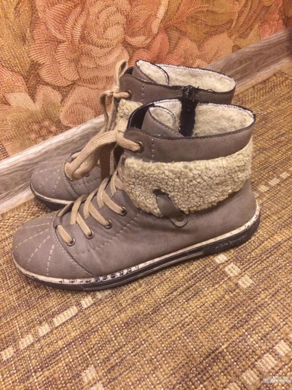 2e8701e0b Зимние женские ботинки Rieker, 38 р., в магазине Другой магазин — на ...