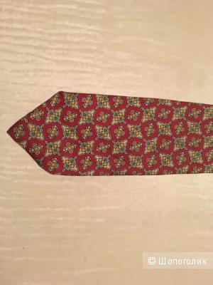 Комплектом три шелковых галстука  Ralph Lauren, Nina Ricci, Lanvin.