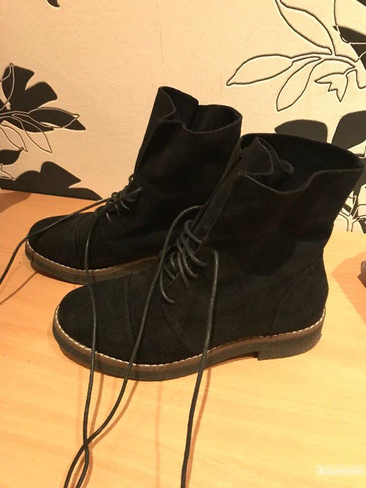 Замшевые ботинки 36р Ideal Shoes