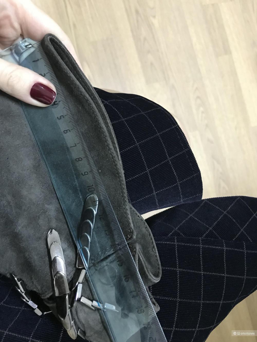 Замшевые ботфорты, 39,5-40 размер