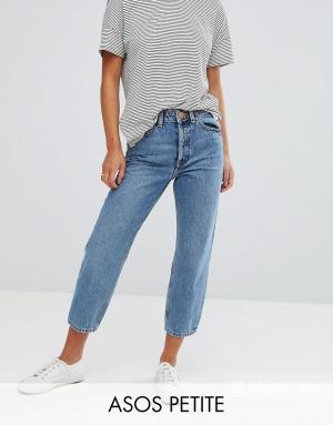 Прямые джинсы ASOS PETITE RECYCLED FLORENCE, W26 L28