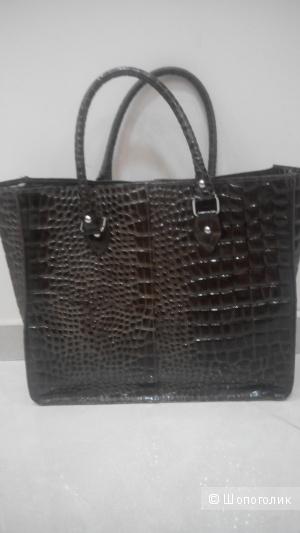 Шикарная натуральная кожаная сумка Италия