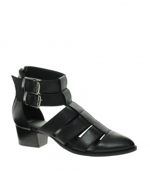 ASOS ANTICIPATE Leather Cut Out Ankle Boots, UK 5