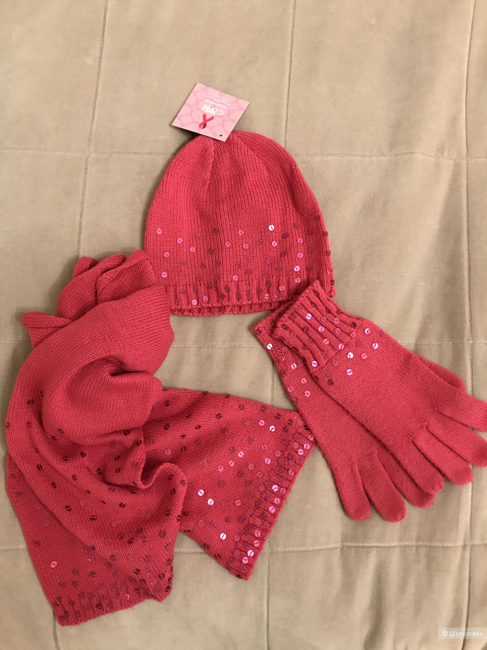 Комплект шапка+шарф+перчатки Simply Vera Vera Wang