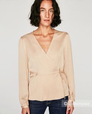 Блузка на запАх Zara XS
