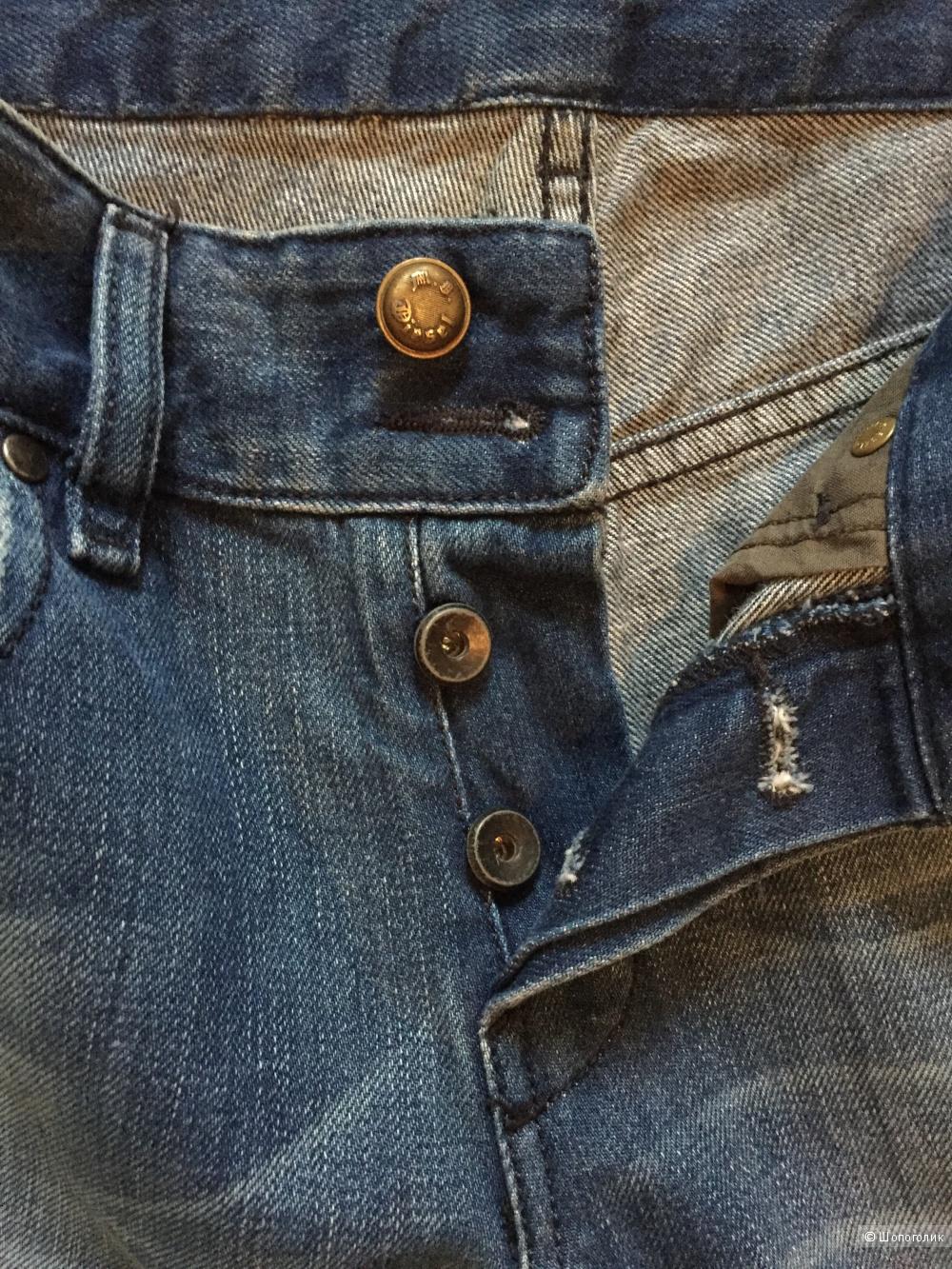 Джинсы-клеш Diesel, размер 27 (28), синие