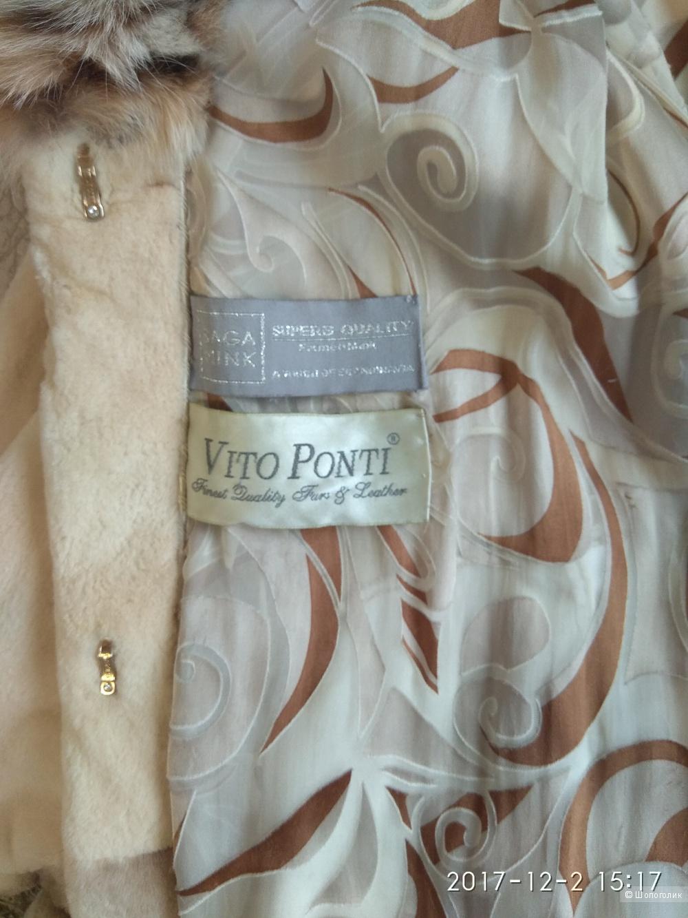 Шуба норковая Vito Ponti с рысью размер 44