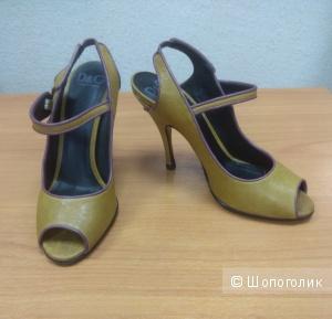 Кожаные туфли Dolce & Gabbana, размер 38,5 (37,5 RU)