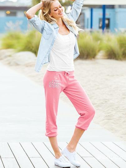 Женские спортивные брюки victoria's secret , размер s