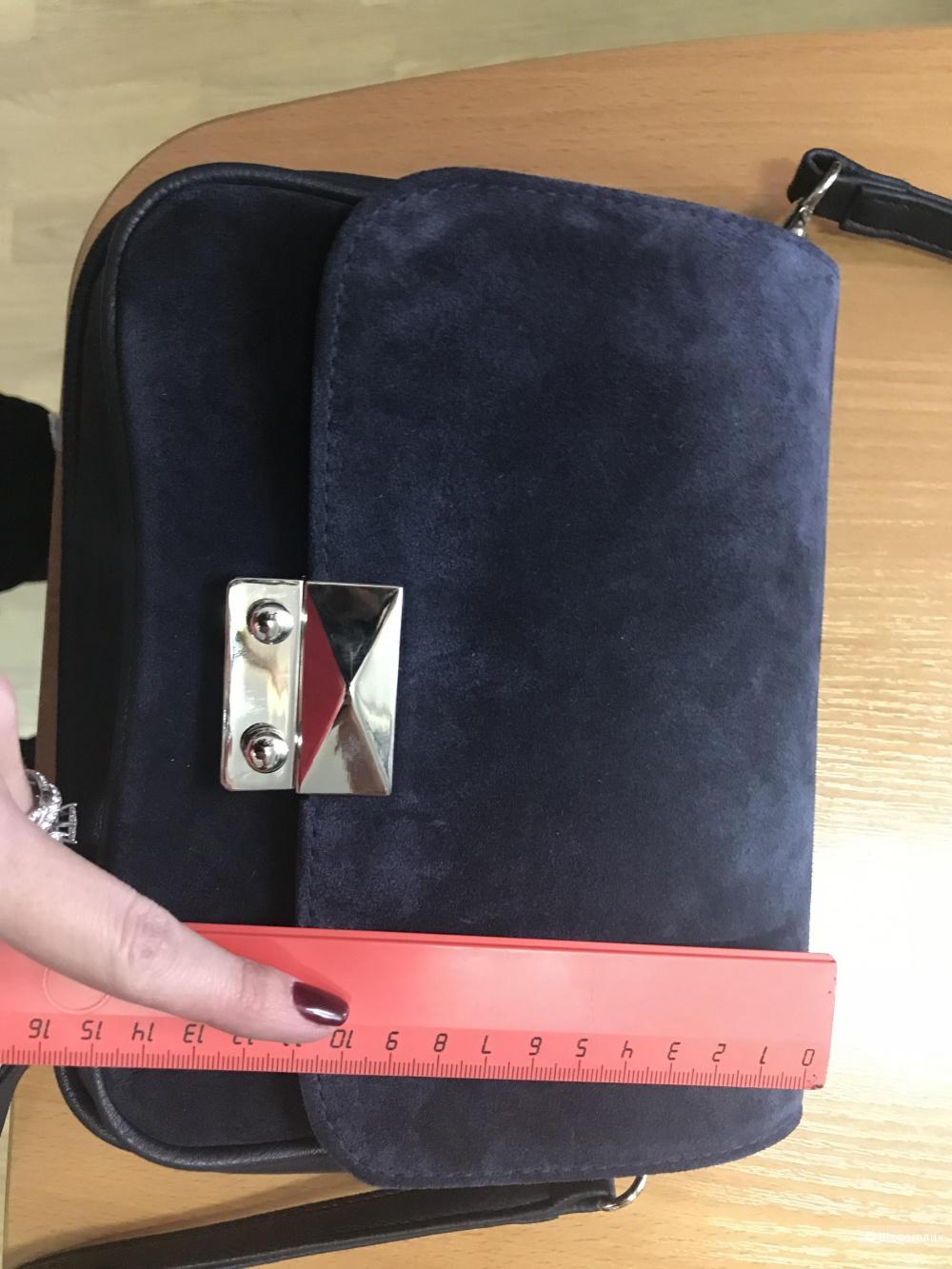 Замшевая сумка кросс-боди